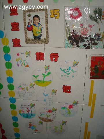 幼儿园九月份主题墙豆子的旅行