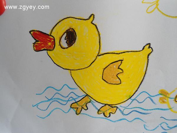 三,幼儿作画师:你们觉得鸭司令和鸭子们本领大不大呀?