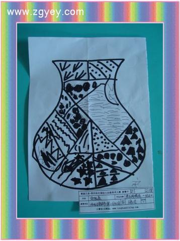幼儿园黑白创意画简单图片