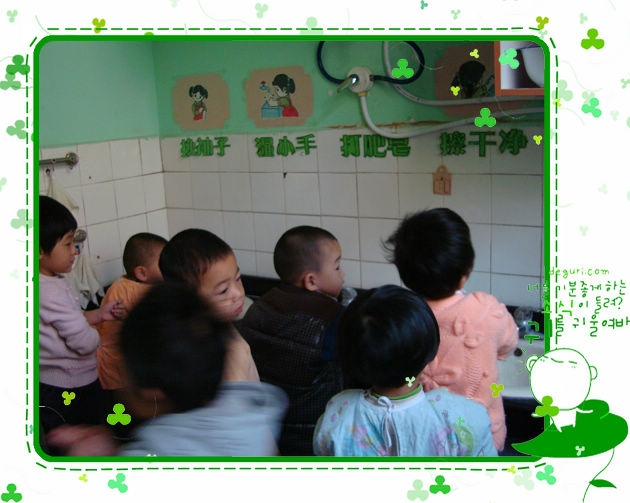 洗手有热水了!-石家庄市第二幼儿园