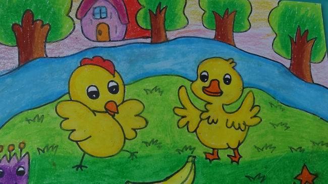 建华幼儿园举行青年教师美术基本功比赛