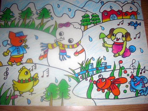 简单 大班孩子画画图片大全 大班教师美术范画图片 幼儿美术作品图片图片