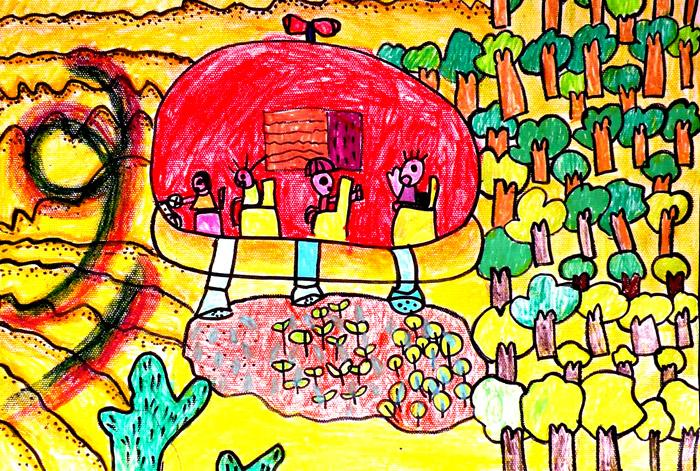 2010年幼儿科幻画评选二等奖作品集图片