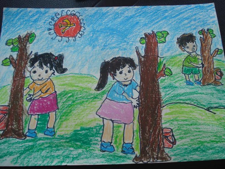 """来安县示范幼儿园开展""""世界地球日""""主题绘画活动"""