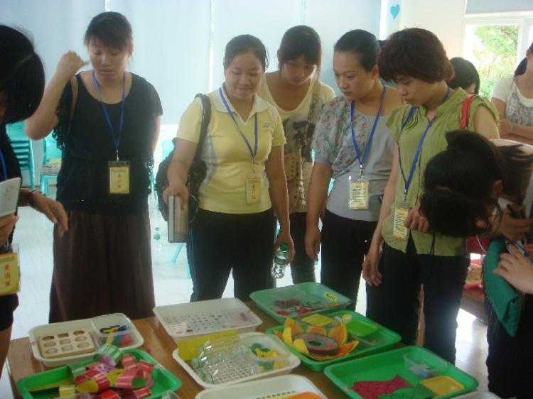 数学区域活动材料制作经验交流活动
