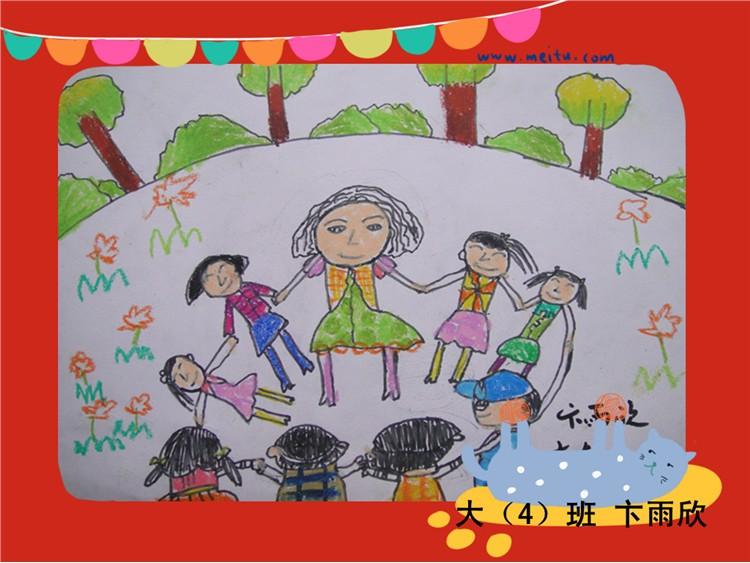 """""""春天的色彩""""主题绘画展-定远县粮食局幼儿园"""