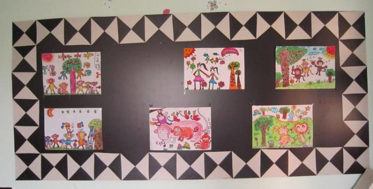 幼儿作品展示_幼儿园墙面布置图片_61幼儿网