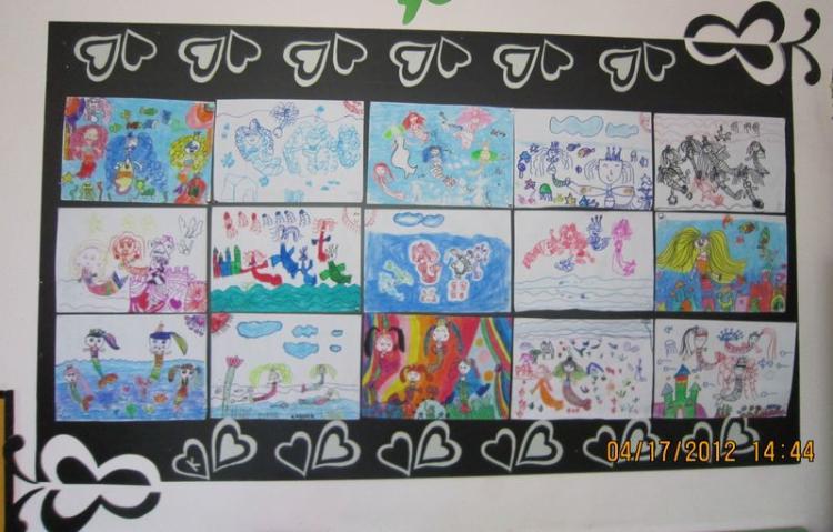 幼儿图画作品展示墙_幼儿图画作品展示墙画法