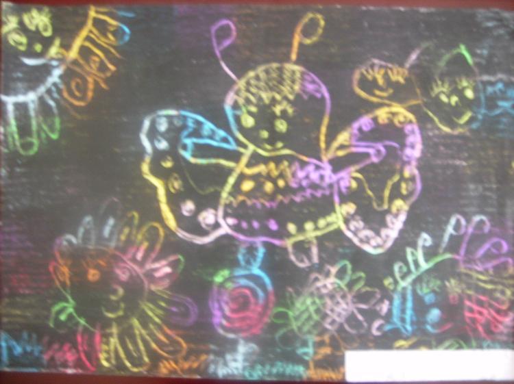 文明禮儀水粉畫黑板報創意