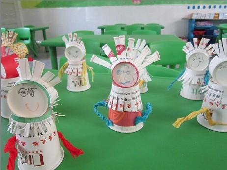 手工制作《纸杯娃娃》-芜湖市长江幼儿园