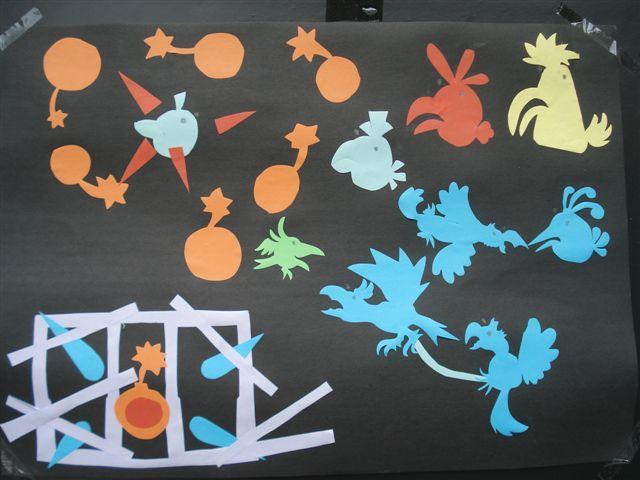大班举行焦逸年剪纸作品展-常熟市报慈幼儿园